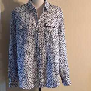 CHARTER CLUB ANCHORS AWAY SHIRT LARGE EUC